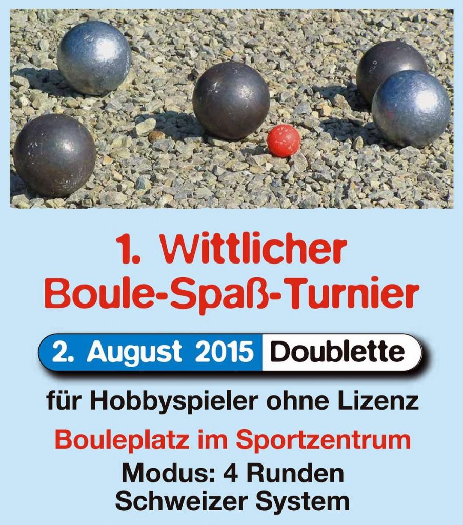 1-Bouleturnier Wittlich 2015