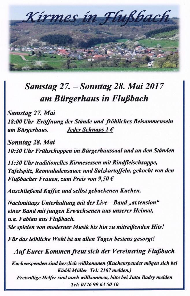 kirmes in flussbach